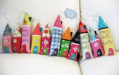 cute fabric houses | sewing