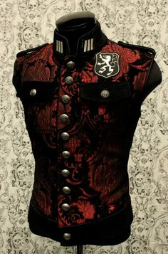 ROYAL MARINE VEST - RED/BLACK TAPESTRY