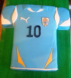 Urguay soccer team T-shirt. Camiseta uruguaya de fútbol. Diego Forlán