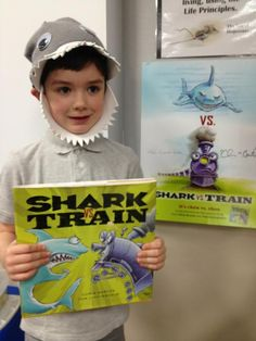 Shark from Shark vs. Children's Book Characters Costumes, Book Characters Dress Up, Literary Characters, Roald Dahl Costumes, Shark Books, Reading Counts, Train Costume, Book Character Day, Shark Costumes