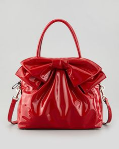 Lacca Dome Bow Bag, Red by Valentino at Neiman Marcus.