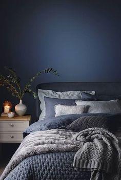 blue bedroom shabby chic bedroom mystery bedroom romantic bedroom nighslee memory foam mattress Romantic Bedroom With Roses Dark Blue Bedrooms, Blue Rooms, Navy Bedrooms, Shabby Chic Bedrooms, Trendy Bedroom, Bedroom Romantic, Romantic Night, Modern Bedroom, Contemporary Bedroom