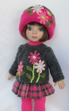 """PATSY'S FLOWERS IN WINTER! FOR 10""""ANN ESTELLE, ETC.MADE BY SSDESIGNS"""