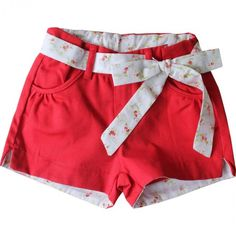 Shorts Infantil Feminino - Buá Short Infantil, Toddler Girl, Baby Kids, Short Niña, Jupe Short, Kids Fashion Boy, Romper Pants, Chor, Sewing For Kids