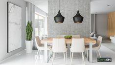 Dinign elegant cu decor alb-gri Dining Table, Interior, Modern, Furniture, Home Decor, Houses, Trendy Tree, Decoration Home, Indoor