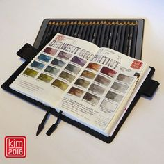 #derwent #graphitint #colorchart in my #hobonichi. #hobonichiplanner #hobonichi2016 #illustrateddiary #illustratedjournal #journal #artjournal #artjournaling #planner #graphite #graphit #pencil #watersoluble #wasservermalbar #wasservermalbarestifte #derwentpencils by illustratedjournal