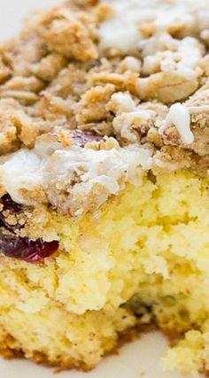 Easy Cranberry Eggnog Coffee Cake