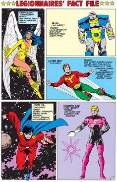 Legionnaires' Fact File - Dawnstar, Blok, Ultra Boy, Mon-El, Element Lad by Greg LaRocque