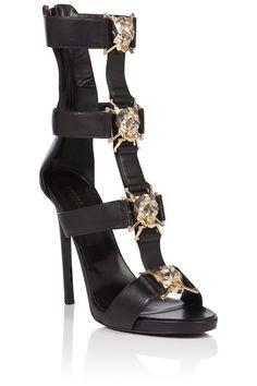 """PHILIPP PLEIN Sandals High Heels """"Gabrielle Low Model"""". #philippplein #shoes #"""
