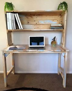Diy desk by proteamundi wood crafts pinterest pallets desk plan rodete solutioingenieria Gallery