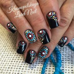 ☺ Winter Nails, Summer Nails, Dotting Tool, Eyeliner, Dot Painting, Nail Stamping, Cool Nail Art, Mani Pedi, Toe Nails