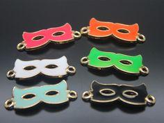 24pcs 33x13mm Mask Sexy Charm/Pendant