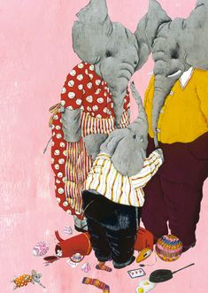 """Carll Cneut illustration for """"One Million Butterflies"""". Elephant Walk, Little Elephant, Elephant Illustration, Children's Book Illustration, Kid Character, Character Design, Kitty Crowther, Typography Prints, Pet Clothes"""