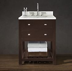 Like the drawers plus shelf to give a more open look.