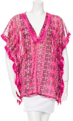 M Missoni Floral Printed Tunic Women Tunic, Missoni, Floral Prints, Ruffle Blouse, Tunic Tops, Printed, Stylish, Fashion, Moda
