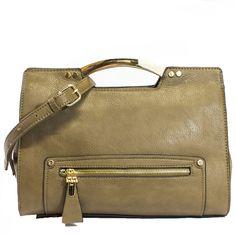 Birklie Structured Satchel Handbag in Tan   Discount Handbags & Purses   Handbag Heaven #handbagheaven