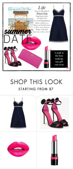 """Summer date 👠💄"" by thefakecake ❤ liked on Polyvore featuring Zimmermann, Oscar Tiye, WALL, Nevermind, Rimmel and Zodaca"