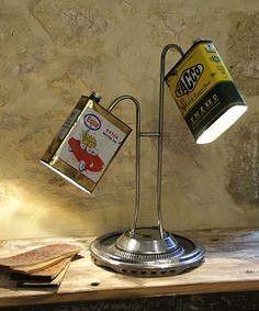 lamp mask descrime unique creation deco loft 6890 euros in - Mode Ideen - SALLA Car Part Furniture, Automotive Furniture, Automotive Decor, Furniture Websites, Furniture Design, Industrial Lighting, Cool Lighting, Lighting Design, Outdoor Lighting
