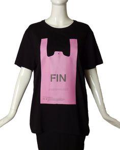 "COURREGES-NWT 2019 Black ""Fin Du Plastique"" T-Shirt, Size-Medium | eBay Mens Flannel Shirt, T Shirt, Red Media, Pink Fabric, Medium, Best Deals, Cotton, Color Black, Label"