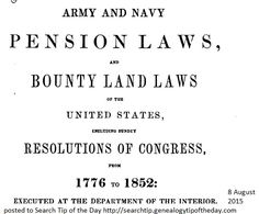Army and Navy Pensions - Genealogy - GoogleBooks