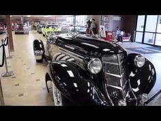 2008 AUBURN BOATTAIL SPEEDSTER REPLICA Circa 1936 Blue/white at celebrity cars las vegas - YouTube