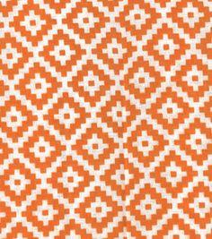 Quilter's Showcase™ Cotton Fabric-Aztec Orange White