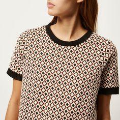 Warehouse Polo T-shirt in Beige (Cream) | Lyst - Поиск в Google