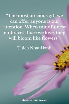 Inspirational quotes from Thich Nhat Hanh on peace, love, + happiness.