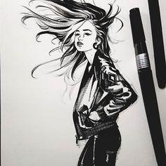 #brushpen #drawing #sketch #doodle #ink #artwork #comics #girls #emotion #outfit #style #pic #그림 #잉킹 #연습