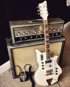 Man I've always loved how those National guitars look. And it's looking extra nice sitting next to that '65 Silvertone! Awesome rig you've got there @action_music. #Stringjoy #CustomStrings #Guitarist #FreshStrings #Geartalk #GuitarStrings #KnowYourTone #GuitarPlayer #CleanTone #ToneForDays | Create your custom string set today at Stringjoy.com #guitar #guitars #electric #acoustic #bassguitar