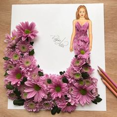 Flowers fashion illustration design 35 new Ideas Art Sketches, Art Drawings, Arte Fashion, Style Fashion, Fashion Design Drawings, Dress Drawing, Creative Artwork, Arte Floral, Flower Fashion