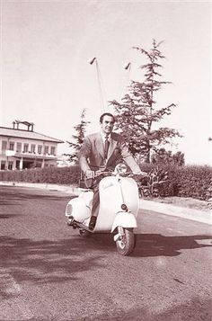 Tyrone Power on a motorcycle. In the late thirties and forties, he would often go motorcycling with his buddies, including stars like Don Ameche