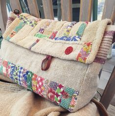 Patchwork Bags, Quilted Bag, Rag Quilt, Quilts, Japanese Knot Bag, Summer Handbags, Sack Bag, Denim Bag, Cotton Bag