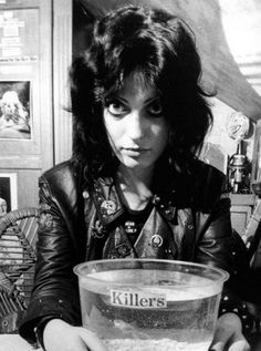 One of the leading female punk rock icons in the delightful shape of Gaye Advert….and her goldfish