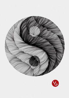 Line By Vasilj Godzh, via Behance Kunstjournal Inspiration, Art Journal Inspiration, Line Drawing, Painting & Drawing, Art Sketches, Art Drawings, Art And Illustration, Gravure Laser, Linear Art
