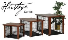 Tables designed to fit over dog crates - yes, please!