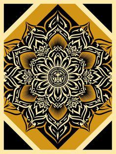 Obey 'Lotus Diamond' Prints - mashKULTURE