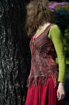 Sprang mini dress by Sylva Antony Čekalová.  Note how språng stretches and conforms to the body.