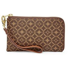Fossil Ava L-Zip Multifunction Swl1318249 Color: Multi Brown Wallet