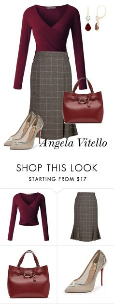 A fashion look from December 2017 featuring long-sleeve shirt, pleated skirt and gold pumps. Browse and shop related looks. Komplette Outfits, Stylish Outfits, Fashion Outfits, Work Fashion, Diy Fashion, Womens Fashion, Fashion Trends, Modelos Fashion, Business Outfits