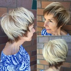 Short Shaggy Hairstyle For Older Women