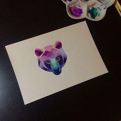 ʕ•ᴥ•ʔ #bear #sashaunisex #watercolor