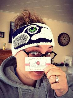 Seahawk Crochet Head Wrap Ear Warmer Headband on Etsy, $18.00