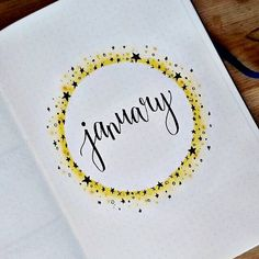 Started early and I couldn't wait to show it. Trying to keep things simple this year but I'll see how long that'll last! Going for a star theme to start the new year! February Bullet Journal, Bullet Journal Monthly Spread, Bullet Journal Cover Page, Bullet Journal 2020, Bullet Journal Ideas Pages, Bullet Journal Layout, Journal Covers, Bullet Journal Inspiration, Filofax