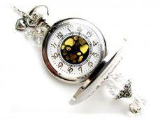 VT09 Vintage Horlogeketting  zilver kleur 78cm