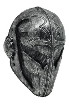 Black and steel Airsoft Full Wire Mesh Protection Templar Mask
