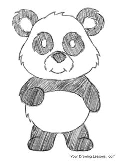 This tutorial is a step-by-step guide on how to draw  a cartoon panda bear.