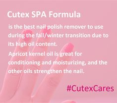 Keep your nails #healthy this fall and winter. #SoCutex #CutexCares #NailCare
