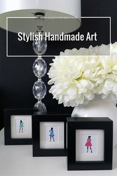 Dressing up: These handmade framed pictures are fit for a Fashion Queen and add a stylish element to any wall. Framed Pictures, Handmade Home, Creative Home, Home Crafts, Home Accessories, Picture Frames, Lust, Monochrome, Gallery Wall