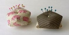 Wrist ~ biscornu shaped pincushions